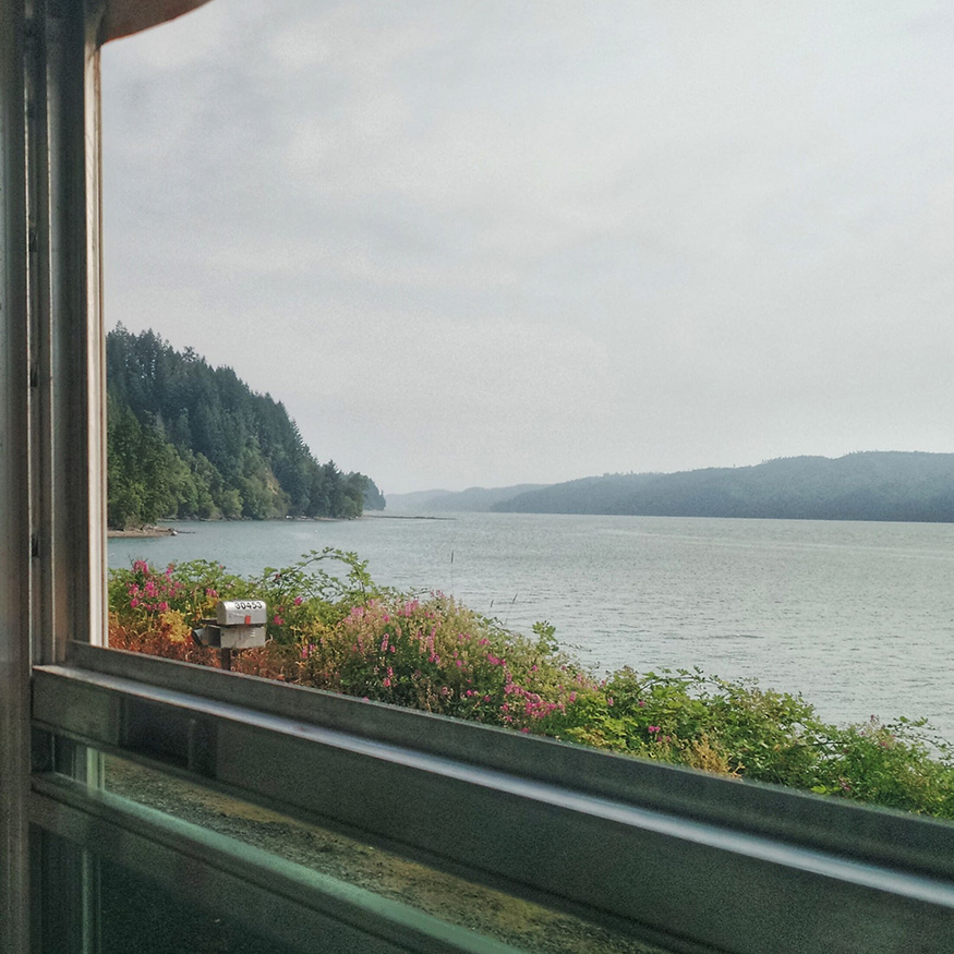 Outside Found   View from the bus overlooking the Hood Canal